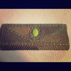 Green jeweled clutch